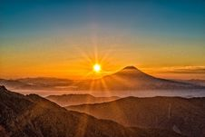 Free Sunset Over Mountain Valley Stock Photos - 94777833