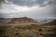 Free Scenic View Of Desert Landscape Against Dramatic Sky Royalty Free Stock Images - 94777869