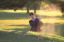 Free Golfer In Sand Trap Royalty Free Stock Photography - 94777937