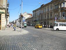 Free Lviv Stone Steet Stock Images - 94777944