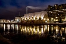 Free Illuminated Waterfront In Sweden Royalty Free Stock Photography - 94778107