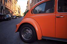 Free Orange Volkswagen Beetle On Road Royalty Free Stock Images - 94778169