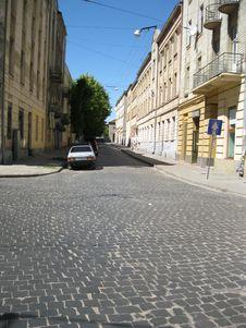 Free Lviv Stone Steet Royalty Free Stock Photo - 94778215
