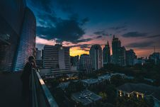 Free Sunset Over City Skyline Stock Image - 94778221