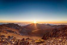 Free Sunrise Over Desert Landscape Royalty Free Stock Photo - 94778245