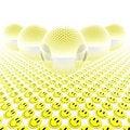 Free 3d Glass Balls With Smiles Stock Photos - 9486963