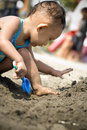 Free Baby Playing At The Beach Royalty Free Stock Image - 9488236