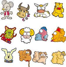 Animal Set Two Stock Photos