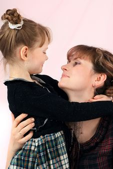 Free Mum With The Daughters Stock Photography - 9480872