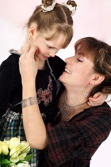 Free Mum With The Daughters Stock Photos - 9480873