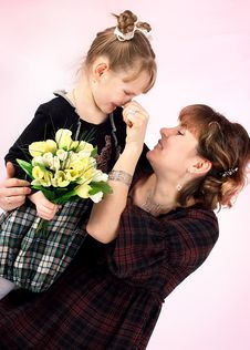 Free Mum With The Daughters Stock Images - 9480874