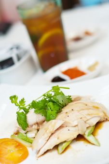 Chicken Rice Set Stock Images