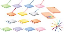 Notepads And Pencils Stock Photography