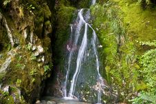 Mossy Little Waterfall 2 Royalty Free Stock Photos
