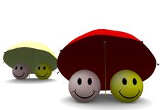 Free Umbrella Smileys Royalty Free Stock Images - 9482699