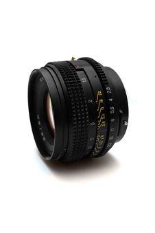 Free Old Photo Camera Lens On White Background Stock Image - 9482741