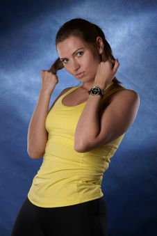 The Sports Girl Royalty Free Stock Photos