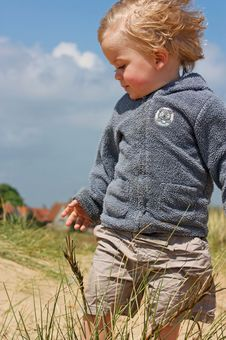 Free Close Up Of Boy In Dunes Stock Photography - 9483792