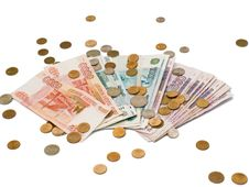 Russian Rubles And Kopecks Stock Images