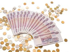 Russian Rubles And Kopecks Stock Photography