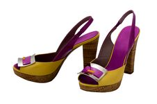 Free Womanish Shoes Royalty Free Stock Photos - 9484328