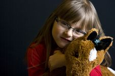 Free Girl And Soft Toy Stock Photo - 9485210