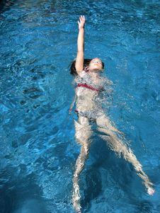Free Swimming Girl Stock Image - 9485811