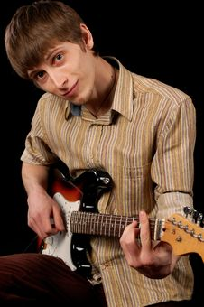 Free Guitarist Stock Photography - 9486672