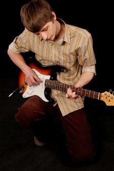 Free Guitarist Royalty Free Stock Photo - 9486725