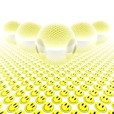 Free 3d Glass Balls With Smiles Stock Photos - 9486963