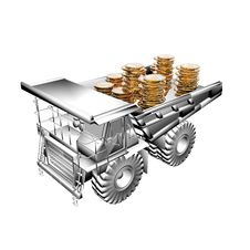 Free Truck With Golden Coins Stock Photo - 9487010