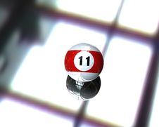 One Pool Billiard Ball Royalty Free Stock Image