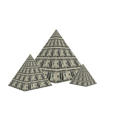 Dollar Pyramid Stock Images