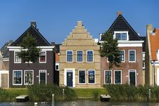 Free Traditional Houses In Netherlands Royalty Free Stock Image - 9487336
