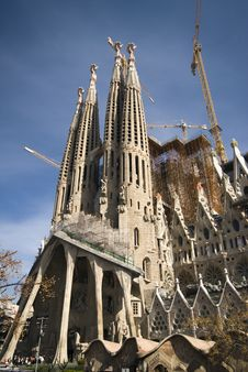 Free The Sagrada Familia In Barcelona, In Construction Stock Photo - 9487370