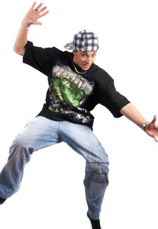 Free Jumping Young BBoy Royalty Free Stock Images - 9487919