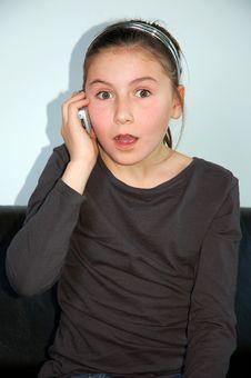 Free Girl On Phone Stock Photos - 9489333