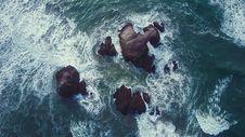 Free Sea Water Splashing Against Rocks Royalty Free Stock Photo - 94886865