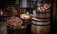 Free Kegs With Fruits Stock Image - 94887041