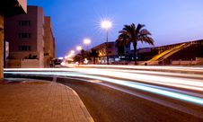 Free Long Exposure Of City Street Stock Photography - 94887082