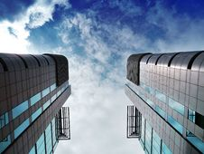 Free Modern Skyscrapers Royalty Free Stock Photo - 94887275
