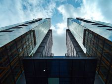 Free Skyscraper Against Blue Skies From Low Angle Royalty Free Stock Images - 94887309