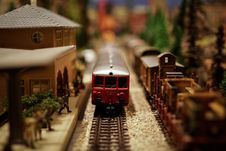 Free Red And Silver Train On Train Station Royalty Free Stock Image - 94887416