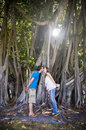 Free Couple Kissing Under Tree Royalty Free Stock Image - 9490006