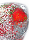 Free Fresh Strawberry In Glass Stock Photography - 9493422