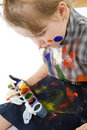 Free Cute Baby Paintings Stock Images - 9495414