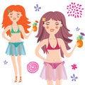 Free Beautiful Smiling Girl In Bikini Royalty Free Stock Photos - 9497508