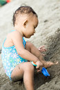 Free Baby At The Beach Stock Images - 9499794