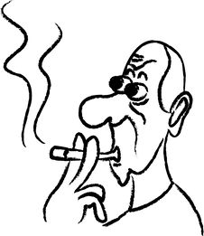 Free Smoking Man Royalty Free Stock Photo - 9490075