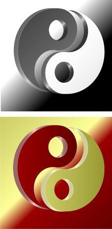 Free Yin Yang Symbol Royalty Free Stock Image - 9490076